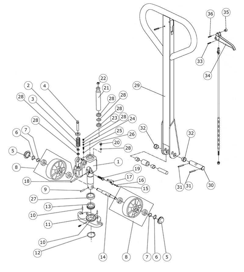 NPM-4WAY – Series Low Profile – 2″ – Palletsmith